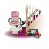 A stairlift in a house