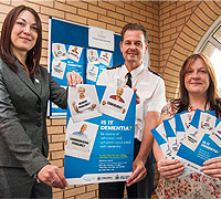 Police officers in Northumberland are working with Alzheimer's Society staff to improve their understanding of dementia